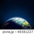 地球 マップ 地図のイラスト 46381227