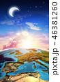 欧州 マップ 地図のイラスト 46381260