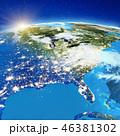 アメリカ 米国 地球のイラスト 46381302