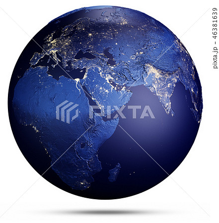 Planet Earth geography. 3d rendering 46381639