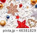 クリスマス 新年 平面図の写真 46381829