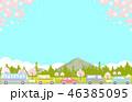 桜 春 渋滞のイラスト 46385095