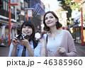 観光 友達 外国人の写真 46385960