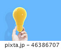 Hand holding houseHand holding light bulb 46386707