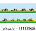 田植え機 農業用トラクター 農業のイラスト 46386989