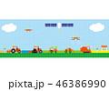 スマート農業 ドローン 農業のイラスト 46386990