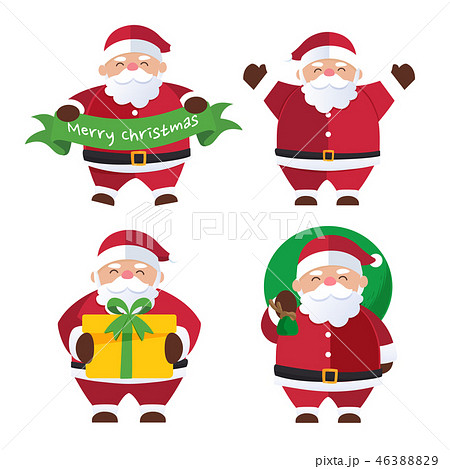 Christmas background with Santa Claus  46388829