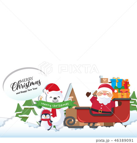 Christmas background with Santa Claus 46389091