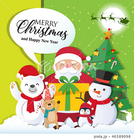 Christmas background with Santa Claus  46389098