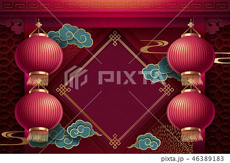 Chinese lunar new year background 46389183