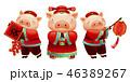 ぶた ブタ 豚のイラスト 46389267