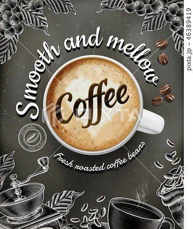 Coffee poster ads 46389419
