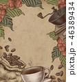 コーヒー コーヒー豆 木版画のイラスト 46389434