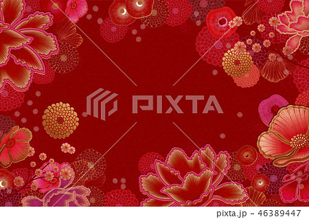 Luxury floral frame background 46389447