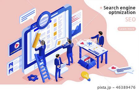 SEO concept in 3d isometric 46389476