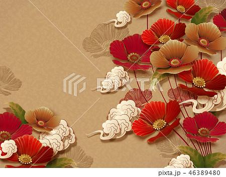 Elegant floral background 46389480