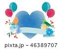 ベクター 花 ハートのイラスト 46389707