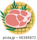 肉 生肉 豚肉のイラスト 46389872