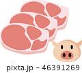 肉 生肉 豚肉のイラスト 46391269