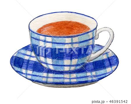 紅茶 ティーカップ 手描き 水彩 46391542