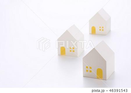 白い家の模型の集合 46391543
