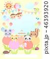 幼稚園 保育園 動物のイラスト 46393920
