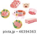 肉 生肉 豚肉のイラスト 46394363