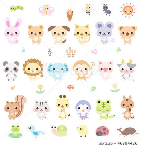 動物と小さい生き物 46394426