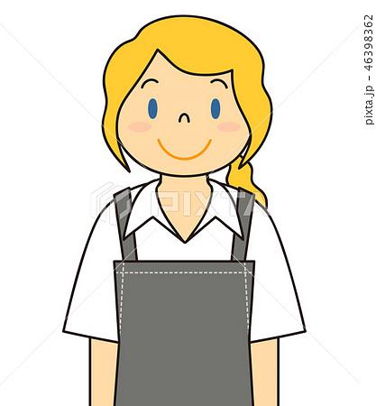 笑顔のエプロン姿の外国人女性 46398362