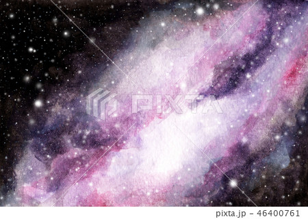 Abstract watercolor galaxy sky background. 46400761