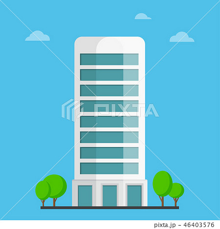 Company building in flat style 46403576