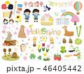 かわいい春のイラスト素材 46405442