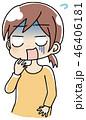 ショック 衝撃 表情のイラスト 46406181