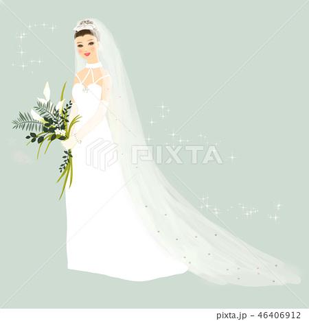 花嫁 ウエディングドレス 46406912