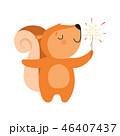 動物 リス りすのイラスト 46407437