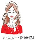 レイヤーカット 赤セーター 46409478
