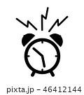 時計 アイコン イコンのイラスト 46412144