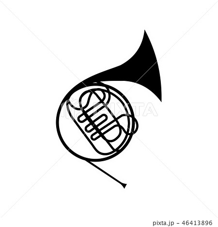 French horn icon 46413896