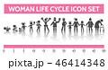 命 生命 女性のイラスト 46414348