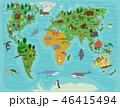 動物 ワールド 世界のイラスト 46415494
