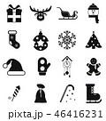 16 クリスマス 黒色のイラスト 46416231