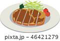 肉 食べ物 豚肉のイラスト 46421279