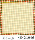 チェック柄 布 フレームのイラスト 46421946