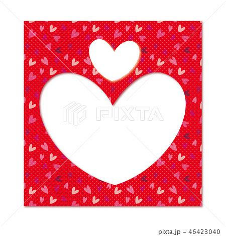 ハートのフレーム フォトフレーム バレンタインデー 46423040
