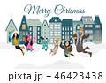 クリスマス のぼり バナーのイラスト 46423438