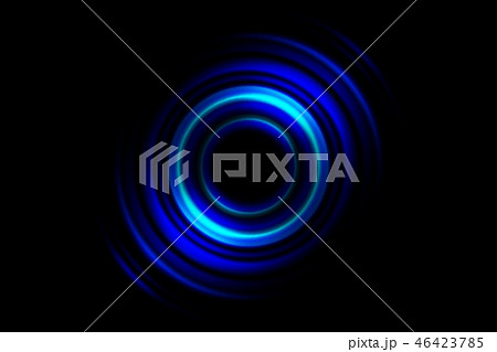 Abstract blue vortex, circle spin on black 46423785