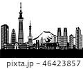 東京の街と富士山 46423857