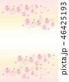 桜 花 水彩のイラスト 46425193