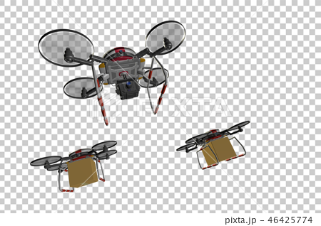 Drone delivery image (formation flight / transparent material version) 46425774
