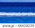 波 海 青色の写真 46428239